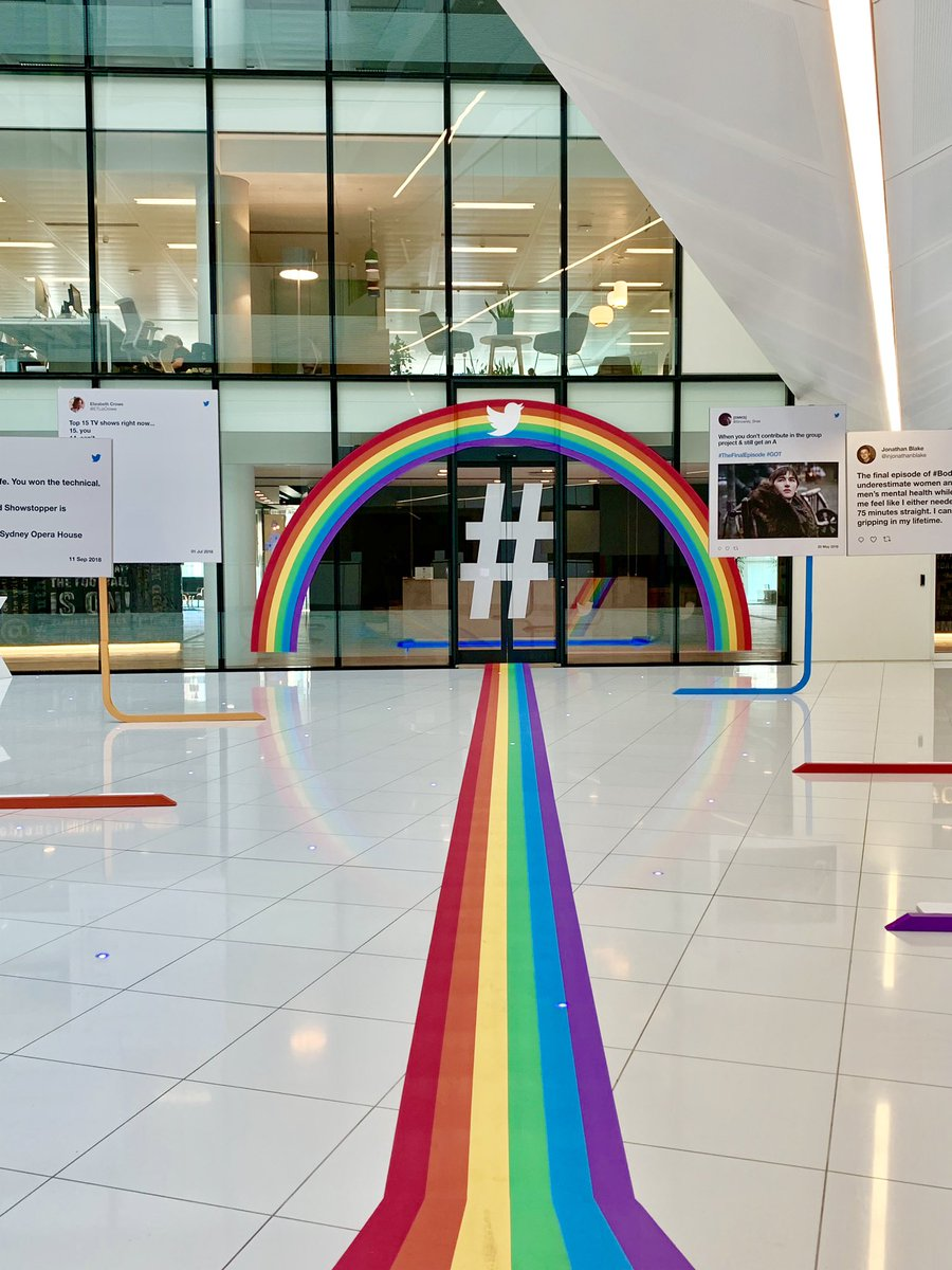 The London office is full of #Pride this morning. #Pride2019.