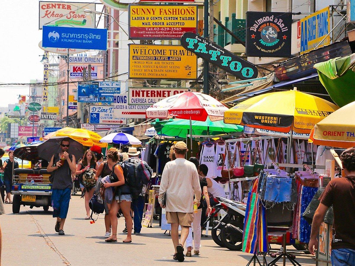 """むあんたい ar Twitter: """"カオサン通りを行き交う人 タイの首都 ..."""