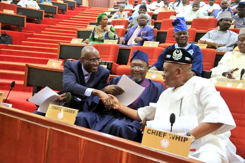 """After extensive deliberations & consultations by our Party the All Progressive's Congress (APC) @APCNigeria,I was officially appointed as announced the """" Senate Chief Whip"""" of the 9th National Assembly @NGRSenate. Let me appreciate the members & leadership of our great party for https://t.co/rFUYEa0oFM"""