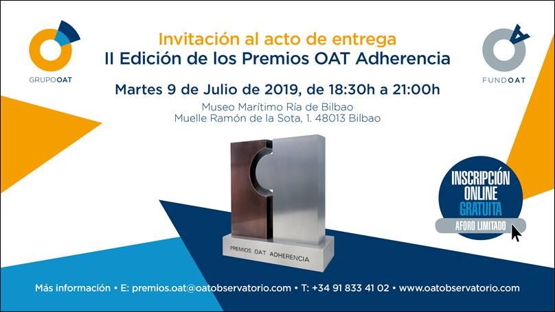 Resultado de imagen de #premiosOatAdherencia