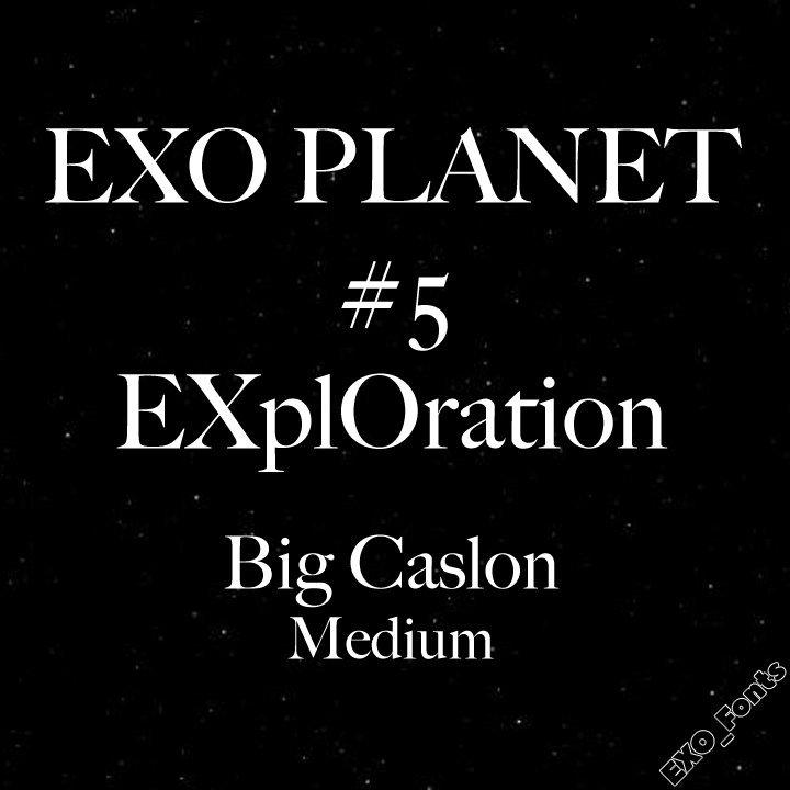 EXO Fonts (@EXO_Fonts) | Twitter