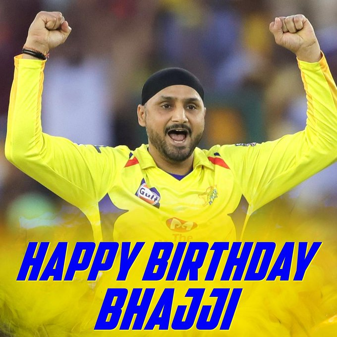 Happy birthday bhajji paa ...healty life ahead ......
