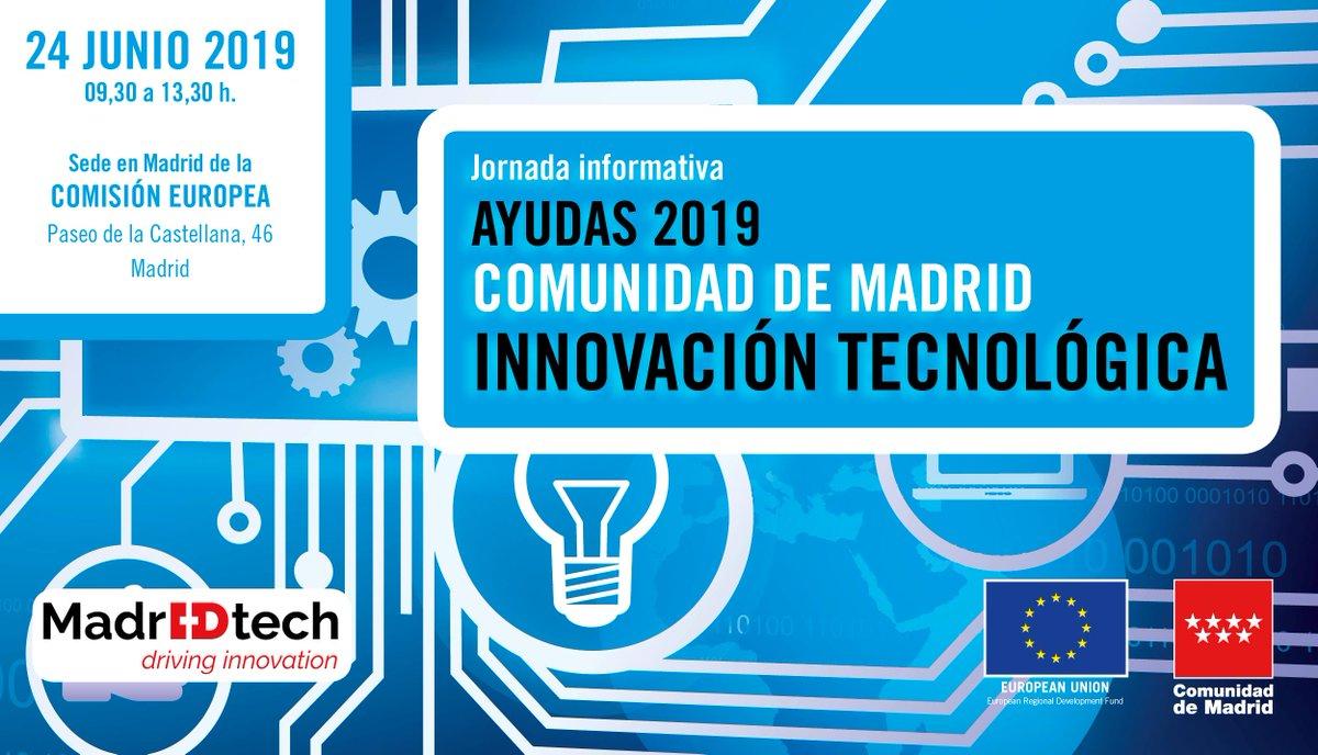 🗣️Ya se han publicado las #presentaciones de la Jornada sobre las convocatorias de ayuda 2019 de la @ComunidadMadrid para #InnovaciónTecnológica ➡️PINCHA AQUÍ: https://www.comunidad.madrid/inversion/innova… 👉#startups #PYMEs #SonPCM #Madrid #LosParquesAportan