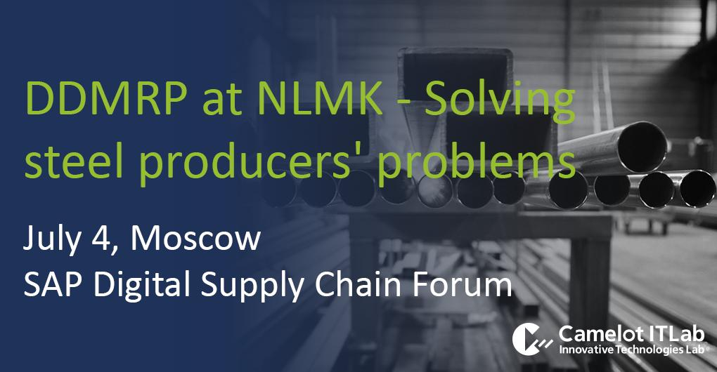 Dont miss the session of @nlmk_news: the introduction of #DemandDriven MRP in the #steel industry. bit.ly/2JnWWKC #SAP #IBP