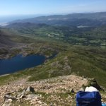 We are having some great 'Type 2 fun' as we climb Cadair Idris up from our base camp - you can just about see it, on the right hand tip of the lake. A glorious day with @OutwardBoundUK
