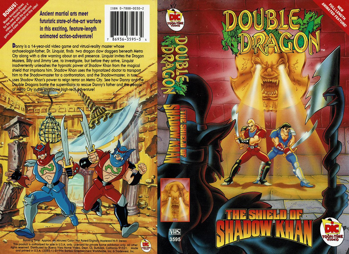 Videogameart Tidbits On Twitter Double Dragon The Shield Of Shadow Khan Vhs Box Art