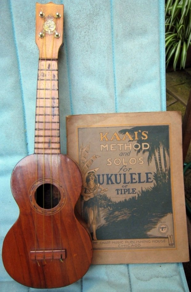 ernest kaai ukulele and book