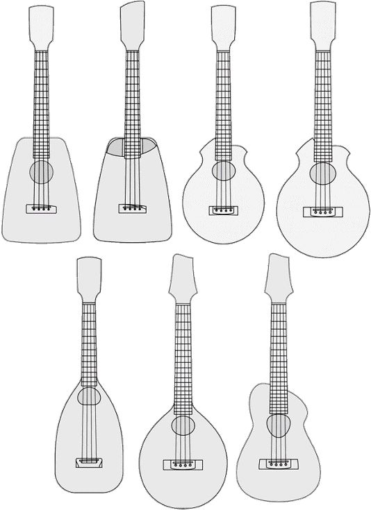 Jerry Hoffmann Luthierie body shapes Ukulele