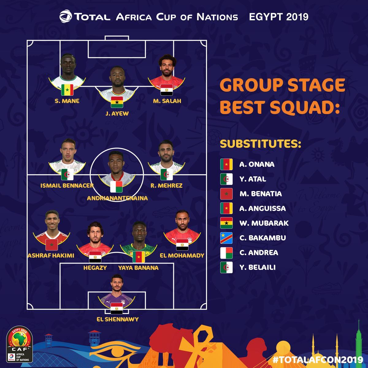 تشكيل فريق افريقيا