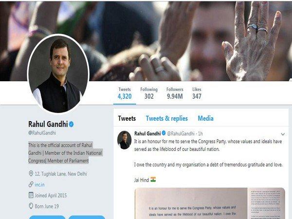 Rahul Gandhi no more Congress president