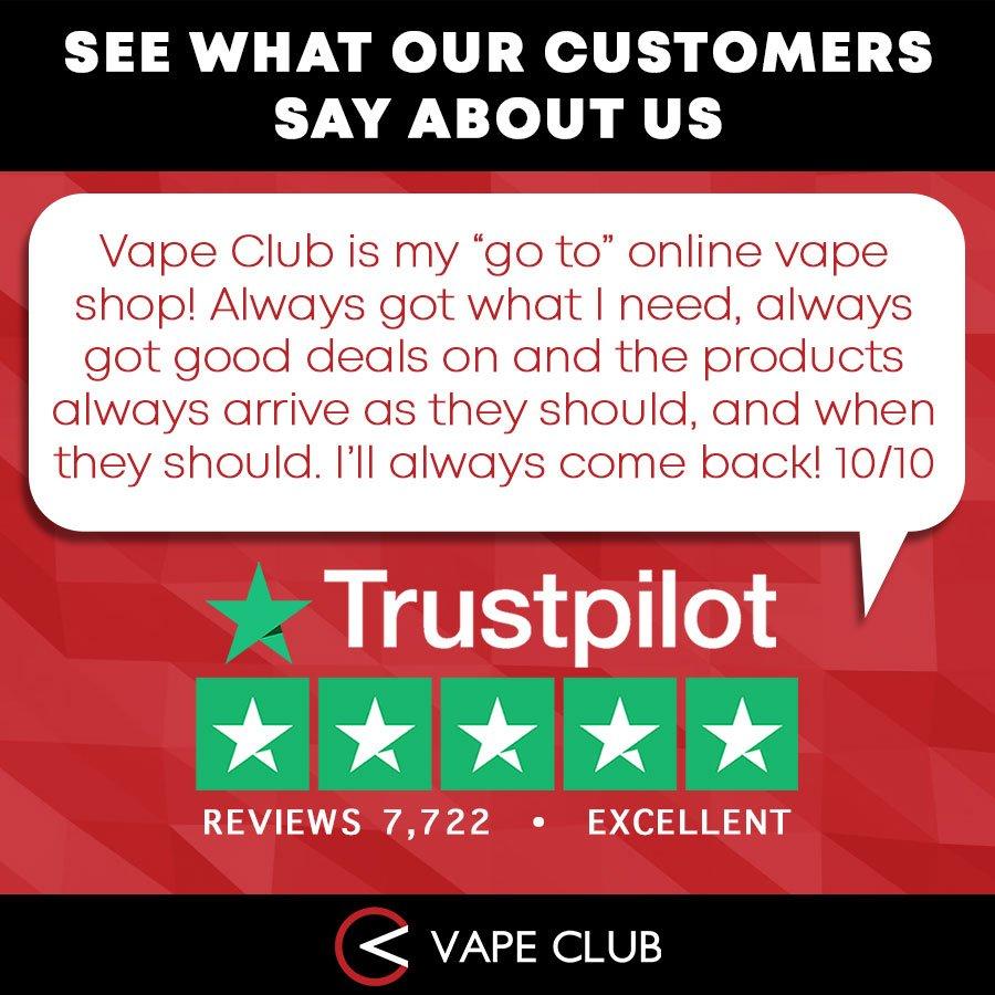 We love hearing your feedback! 😀 #VapeClubUK #VapeClub