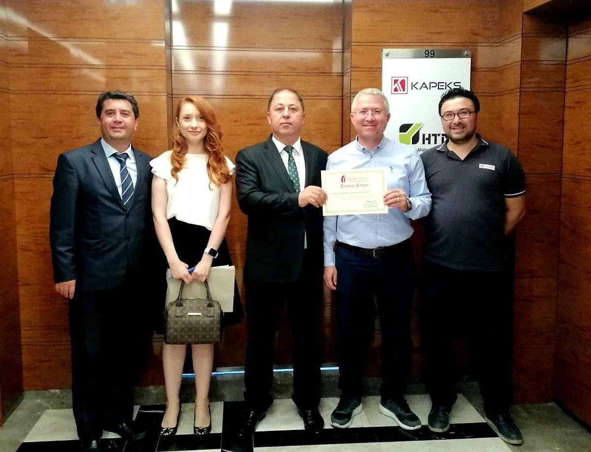 Vergi Dairesi Müdürlüğü 2018 yılında KAPEKS'in ülke ekonomisine yapmış olduğu katkılardan dolayı teşekkürlerini iletmişlerdir.