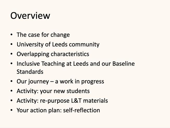 Overview of our #InclusiveTeachingLeeds workshop #TELfest