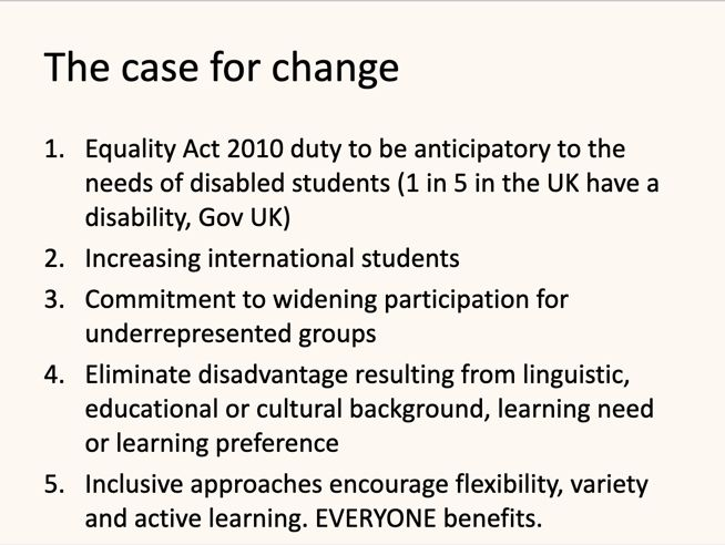 The case for changing our practice #InclusiveTeachingLeeds #TELfest
