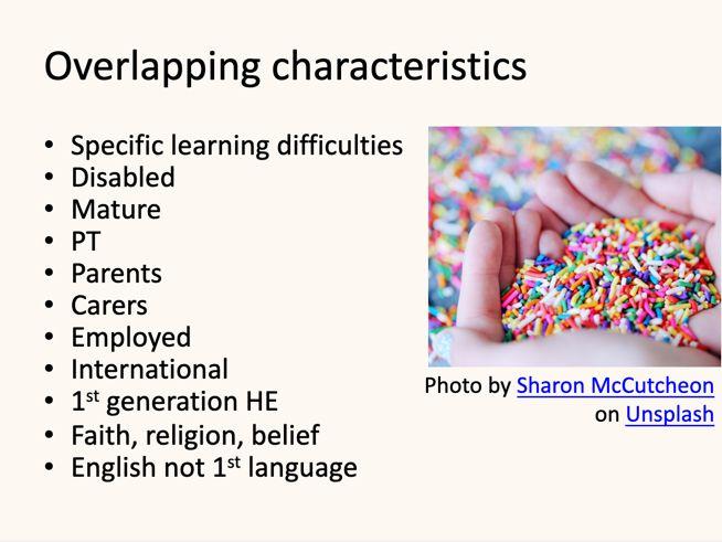 What characteristics do YOUR students have? 🤔 #InclusiveTeachingLeeds #TELfest