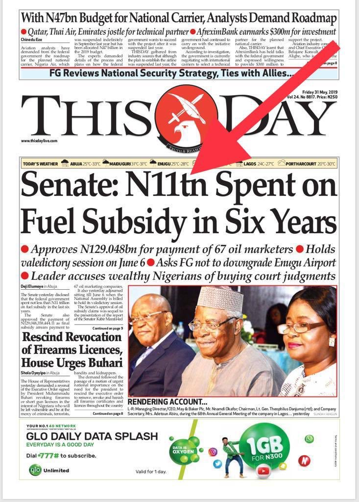 These are monies that should have been spent on POWER, EDUCATION, HEALTH and INFRASTRUCTURE. Most of the N23 trillion Nigeria now owes was spent on fuel subsidy. This is the very wastage my Electric Car Bill was crafted to stop. I call on the 9 ⁦@NGRSenate⁩ to revisit it.