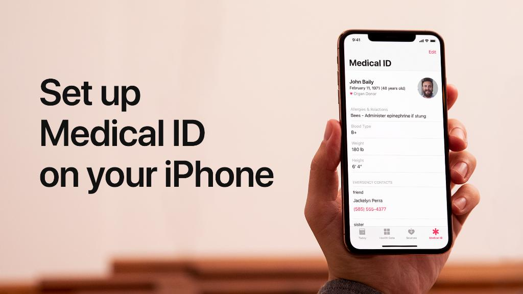 Add your emergency contacts, allergies, and medical conditions to Medical ID on your iPhone, just in case anyone needs to access them without your passcode.  Learn more: https://apple.co/2xvK2Vq