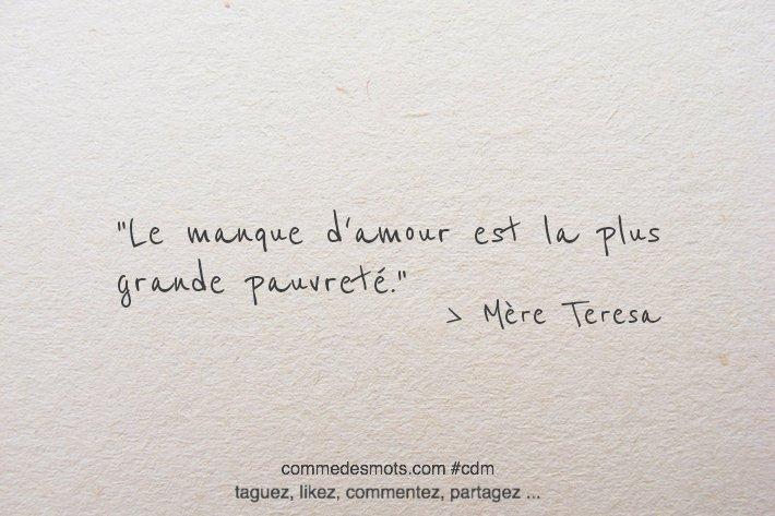 Comme Des Mots A Twitter Citation Du Jour Le Manque D Amour