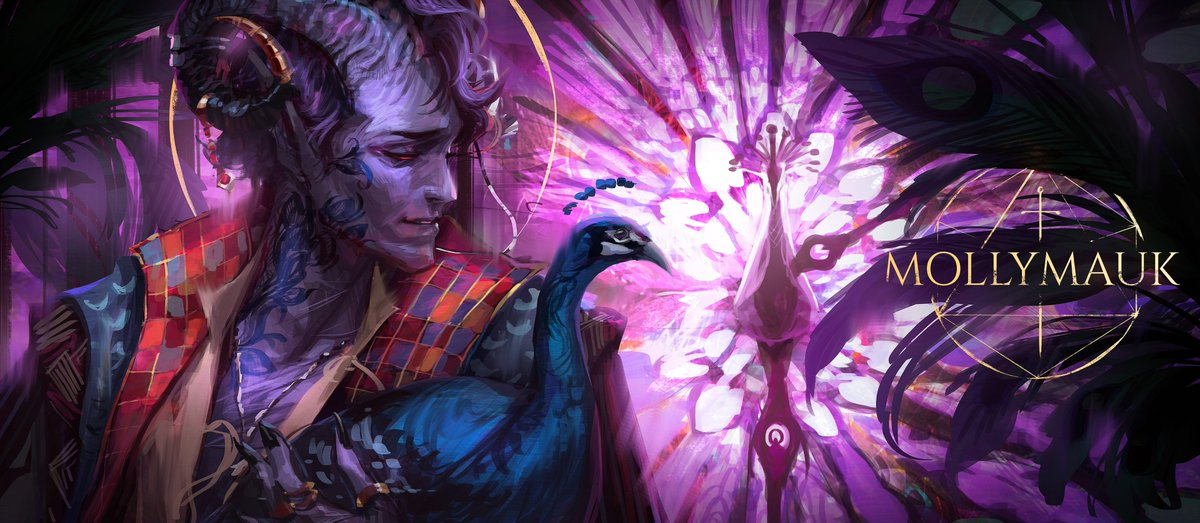 Jessketchin On Twitter Capping Off The M9 Series With Mollymauk A Peacock Cradling His Peacock Long May He Reign Also I M Putting Together A Wallpaper Pack Will Make A Separate Post About Freelance concept artist & illustrator ●available for work● insta: wallpaper pack