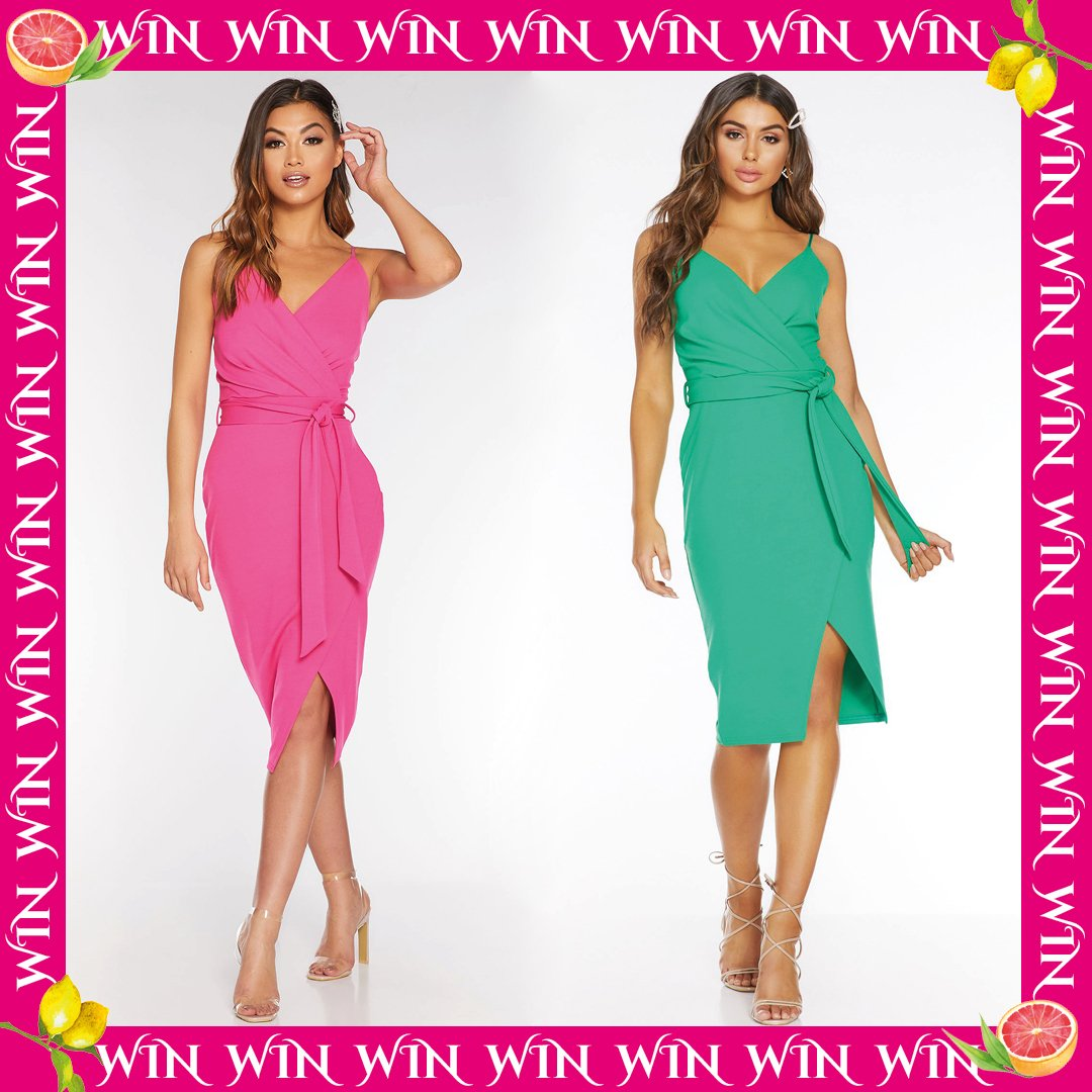 👗 #WIN THIS DRESS👗 What's your fave colour QUEENS!? Like this post, RT and comment 💘 for pink and 💚 for green to enter... GOOD LUCK QUEENS 👑👑