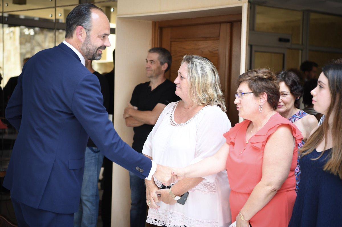 Avec les agents de l'État à la préfecture de Bastia, à mon arrivée en Corse.