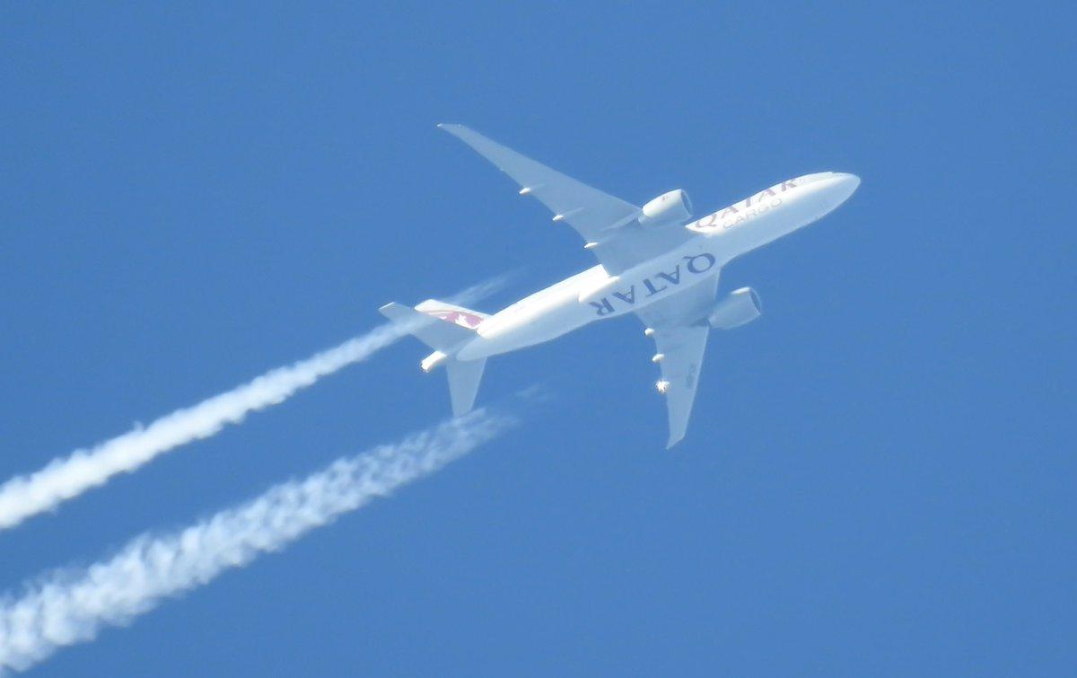 Qatar Cargo, QTR8186 Chicago-Luxembourg. 34,795 feet, 516 knots.