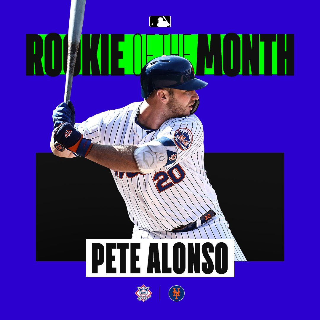 Flipboard: Mets' Pete Alonso Wins Rookie Of The Month