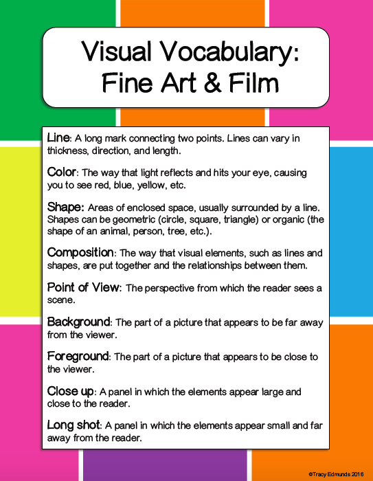 Tracy Edmunds On Twitter One Way To Help Students Analyze Visual Elements Is To Use Language And Concepts From Art And Film Criticism For Younger Students I Really Like Trevorabryan S Access