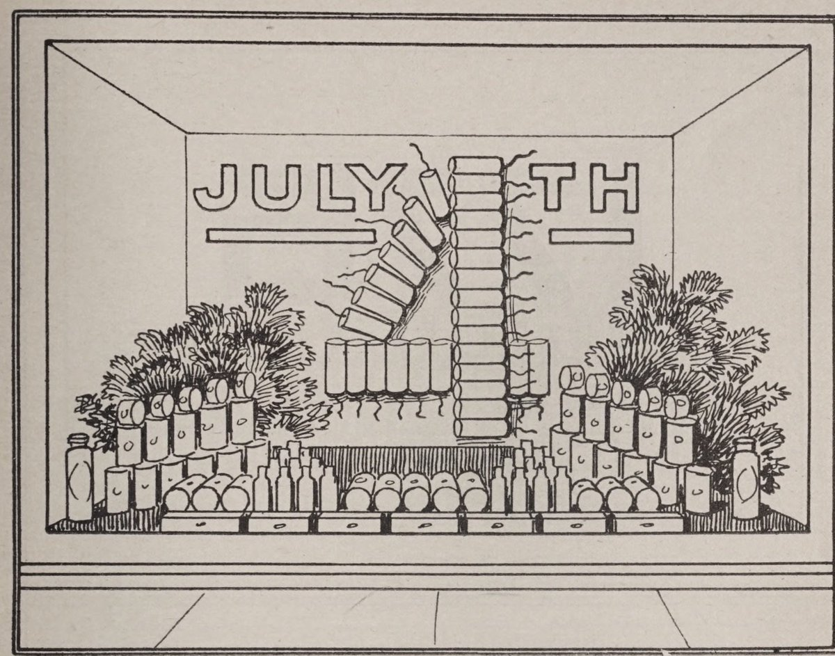 The editor of a Chicago grocery trade publication has suggestions for Independence Day window displays, 1923 https://t.co/CauCAZ3AGI