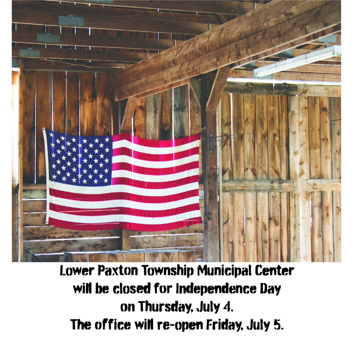 Enjoy Independence Day with family and friends. . . God Bless America! #lowerpaxtontwp #ourcountry #independenceday