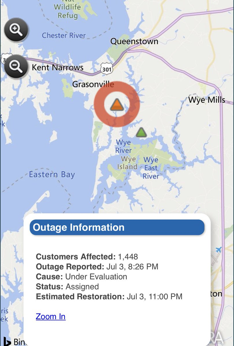 Delmarva Power Outage Map on