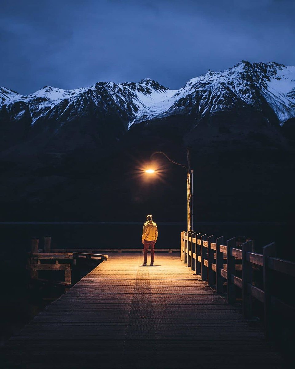 #MeetTheWorld Winter can seem dark and dreary but it's all about finding the light. Just like Ryan did, when he captured this amazing shot at the famousGlenorchy Wharf onLake Wakatipu. 📸: @ryan_domenico