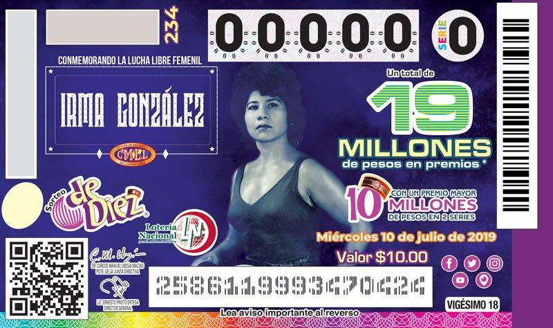 CMLL: Las Amazonas del Ring homenajeadas por la Lotería Nacional 2