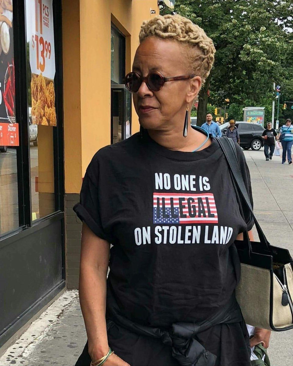 Nothing more needs to be said.   NO 👏🏾 ONE 👏🏾 IS 👏🏾 ILLEGAL 👏🏾 ON 👏🏾 STOLEN 👏🏾 LAND 👏🏾   #July4th  Retweet