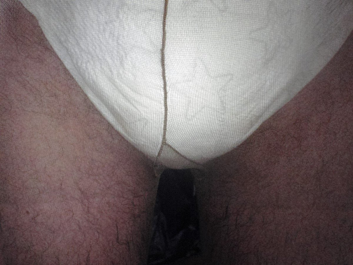 New Diaper and pantyhose, ready for a wet walk.