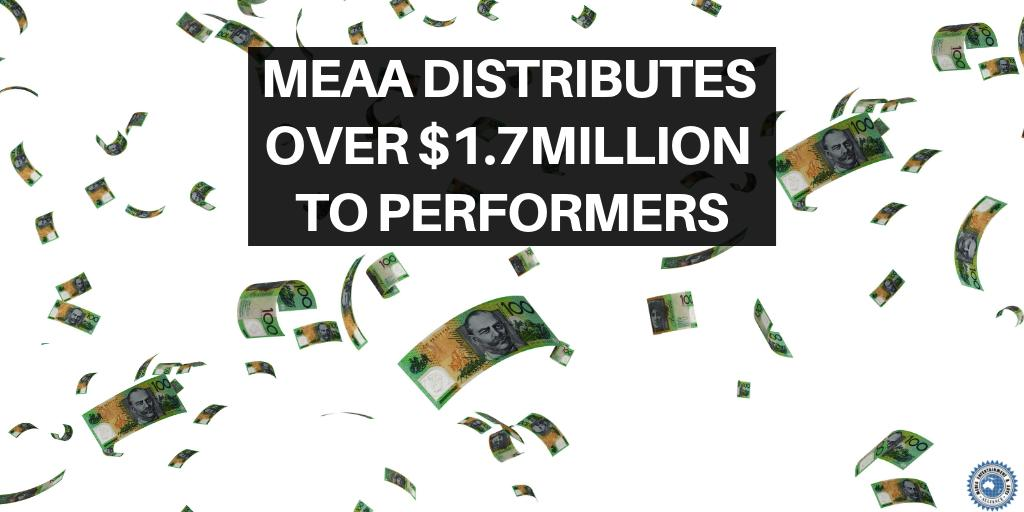 #MEAAEquity has distributed over 1,800 residuals payments to performers, worth in excess of $1.7 million, in this quarter alone. The Leftovers S3, True Blue: Red Dog, Light Between Oceans and Predestination were among those included in this quarters' distribution.