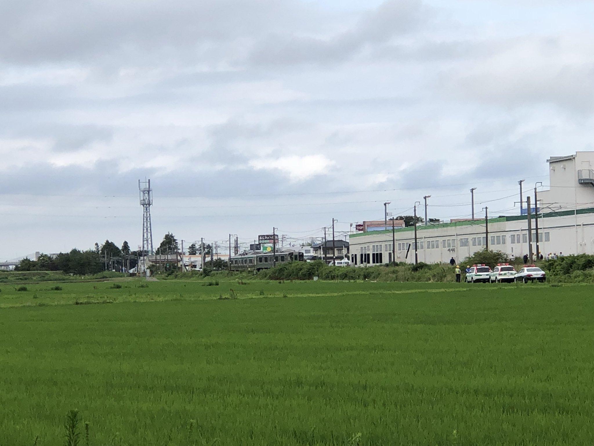 東北本線の岩沼駅~館腰駅間で人身事故が起きた現場の画像