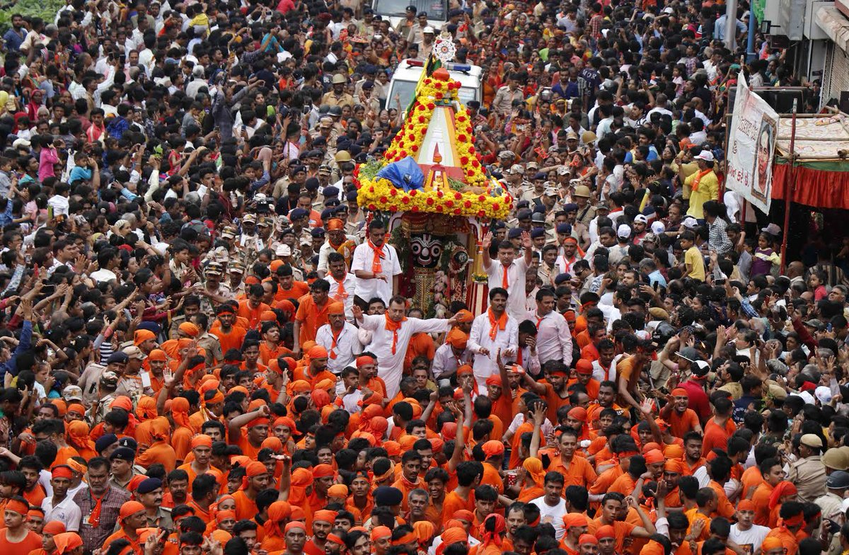 On 'auspicious' Rath-yatra day in Gujarat, 88 talukas have witnessed rain till 12 pm