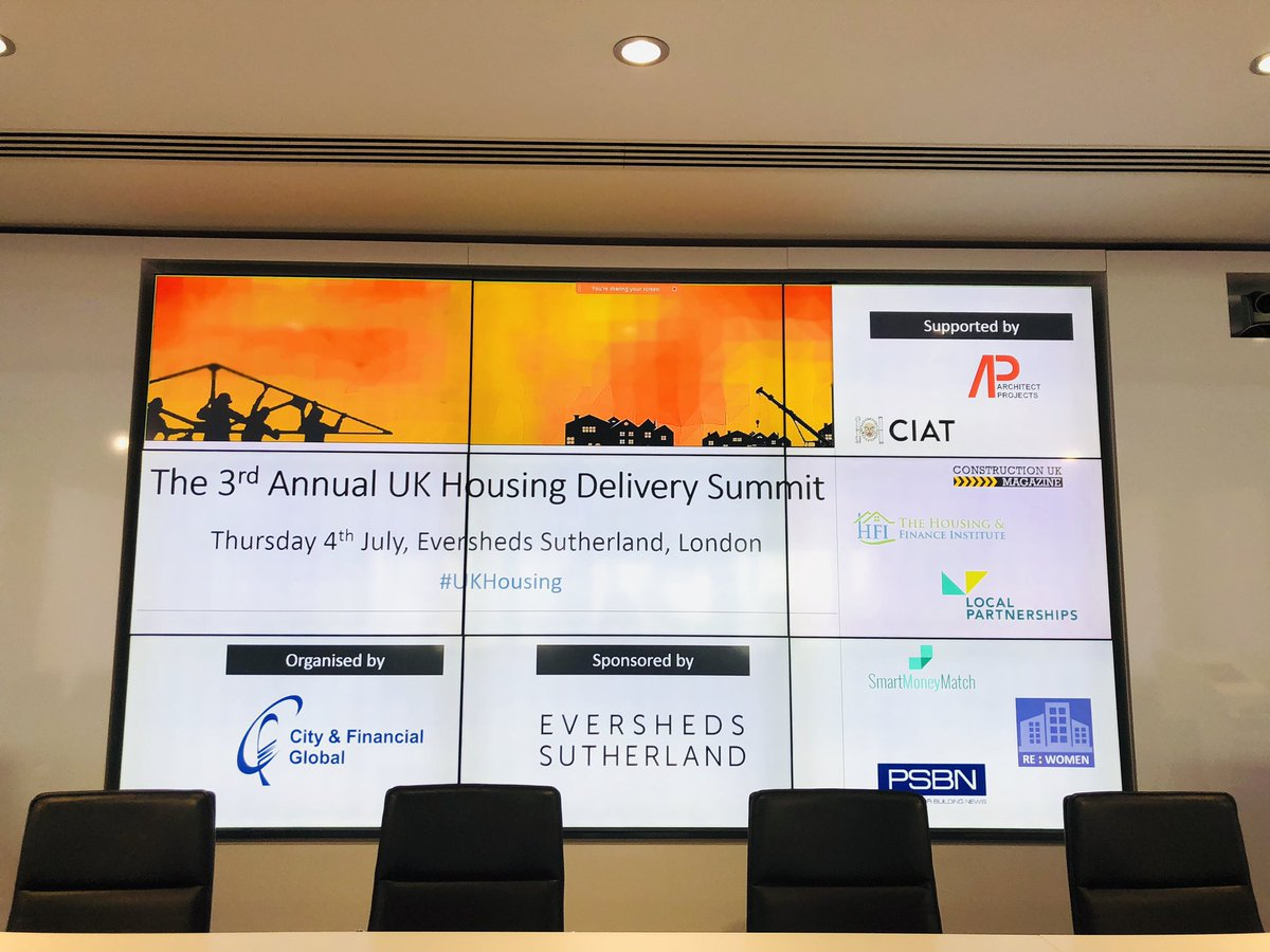 RT @cfconferences #UKHousing summit today at @ESgloballaw !