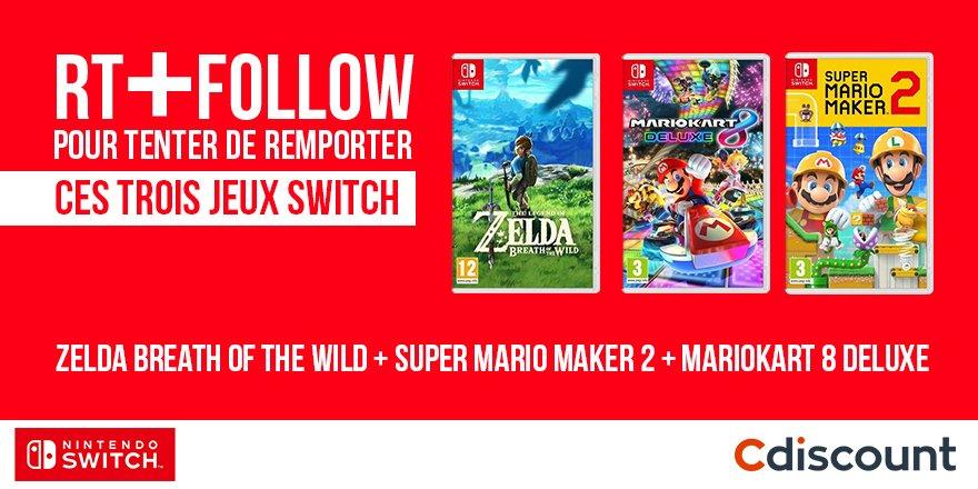 🎁 #Concours Il est comment ce pack de jeux 100% Switch ?? 😀 🔸 Pour tenter votre chance : RT + Follow @Cdiscount TAS 12/07