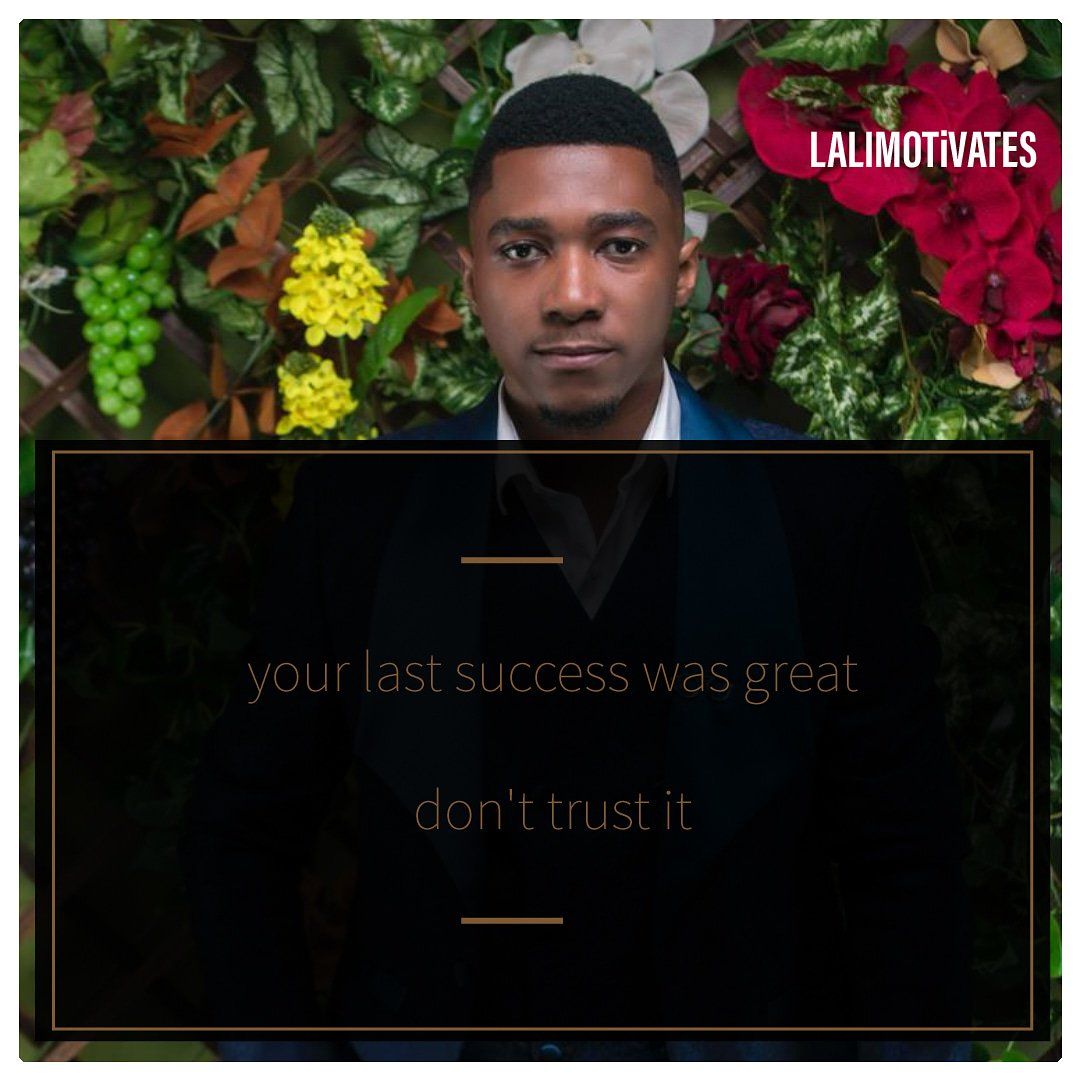 Do not let complacency set in. Your last success was great but don't let's it deceive you. You can do more.   Big ups to all dream chasers. Chase with all your heart. Success is next in line. #lalimotivates #dreamchasers #greatness #success #billionaire #wealth #life #business<br>http://pic.twitter.com/vgWpCJdb2V