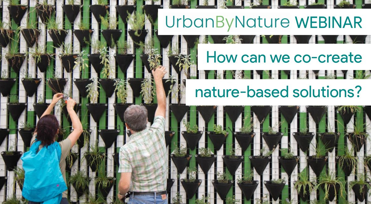 Join @ICLEI_Europe for the next #UrbanbyNature webinar where #cities & researchers will share experiences & knowledge on how to best co-create #naturebasedsolutions.  11 July, 15:00-16:00 CEST  Register: https://t.co/8Pt0OPO1xf Supported by @ConnectingNBS Hosted by @CitiesWNature