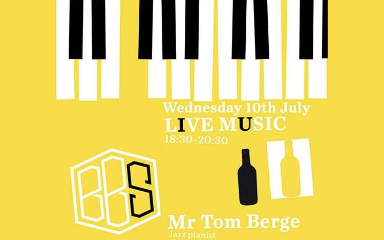 Next live jazz date is Wednesday 10th July from 6.30pm. See you there! Bookings not necessary 🎹