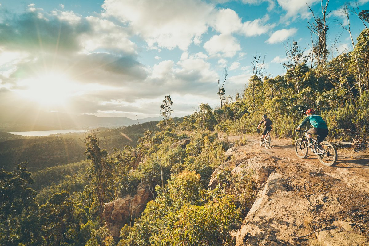 Running along the River Derwent in Tasmania, Australia, Meehan Range is an expansive protected area that contains networks of biking and hiking trails #swaindestinations #tasmania