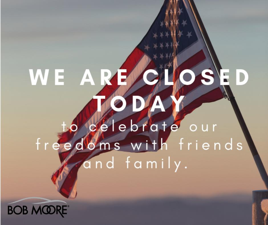 Happy #FourthofJuly! We are closed today to celebrate our freedoms with family and friends. https://t.co/qBdPup0GxS
