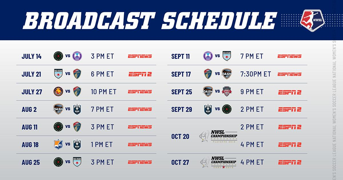 Nwsl 2019 Schedule NWSL on Twitter: