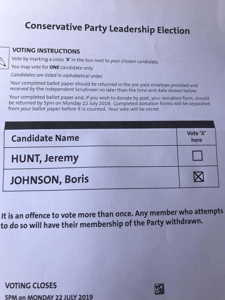 #ImBackingBoris @Conservatives @BorisJohnson #BackBoris off to the Post Office I go.