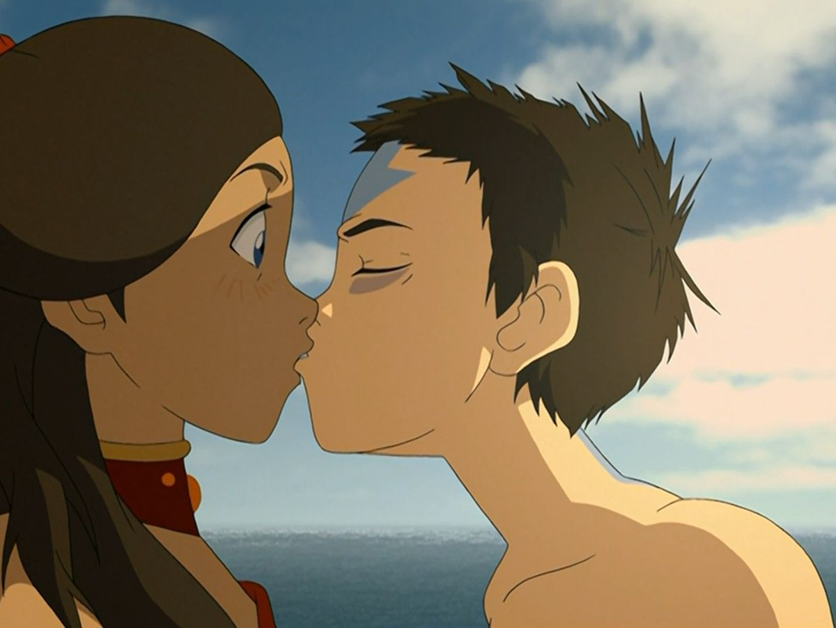 Катара и аватар целуются картинки