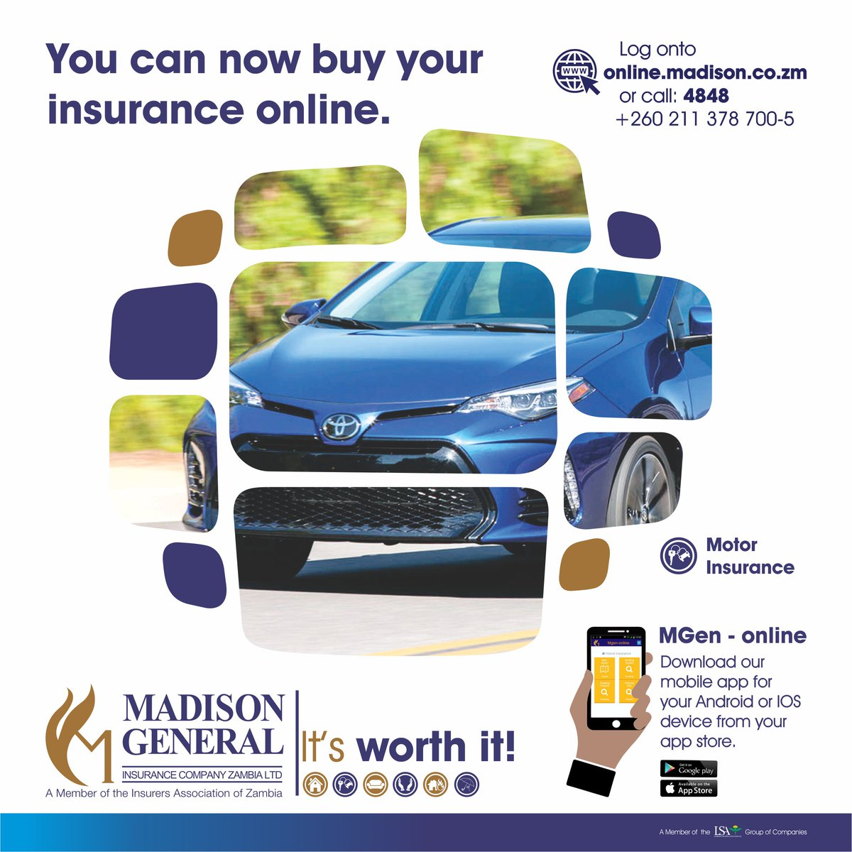 Madison General Insurance Company Zambia Ltd On Twitter Got That New Car Insure It With Mgen And Have Your Motor Insurance Policy Delivered To You In The Comfort Of Your Home Insure