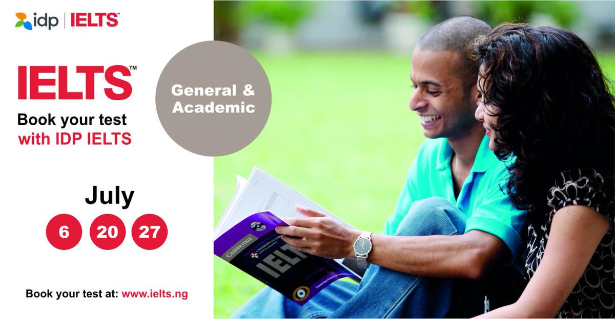 Take your IELTS test with MOD IELTS this July in Lagos, Ibadan, Abuja, Port-Harcourt, Benin, Kano, Akure, Abeokuta and Enugu for 68,000 Naira only. Book now: ielts.ng/take-ielts/how…